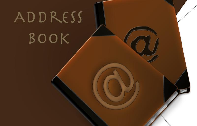 my rectangular address book