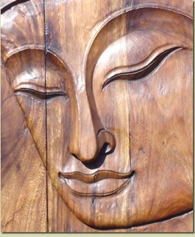 serenity Buddha carving
